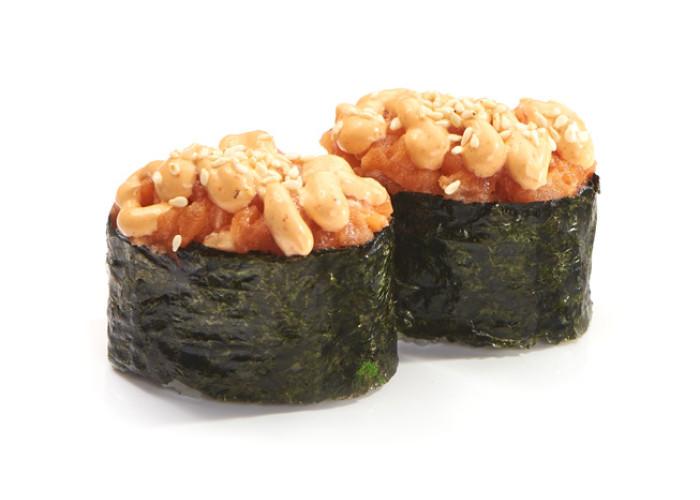 Семга спайс суши 2шт