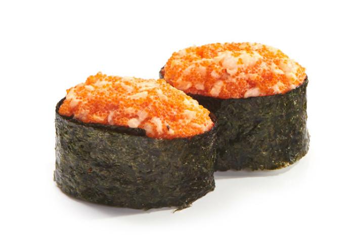 Креветка тобико суши 2шт